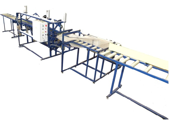 Long products packaging line